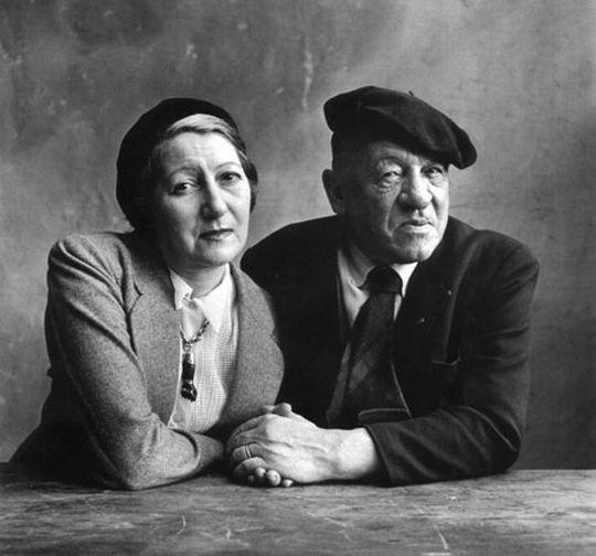 Blaise Cendrars con su esposa fotografía de Irving Penn 1950 - Poesia Online