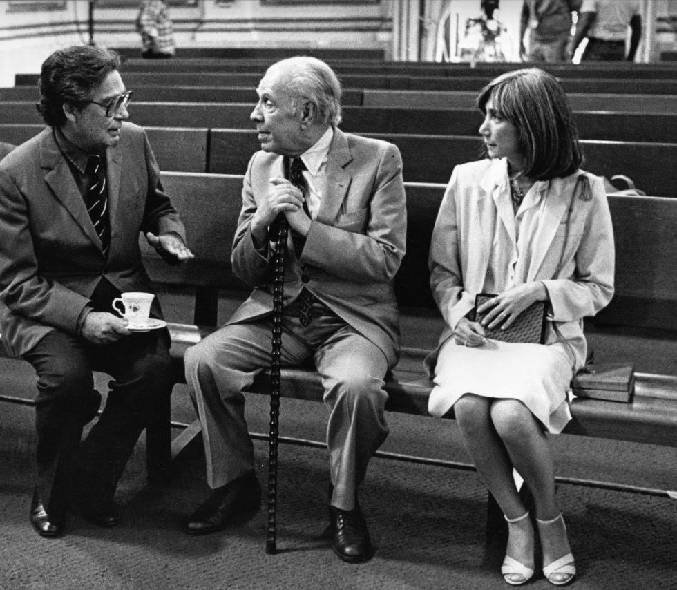 Borges con María Kodama y Octavio Paz - Poesia Online