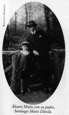 Con su padre Santiago Mutis Dávila - Poesia Online