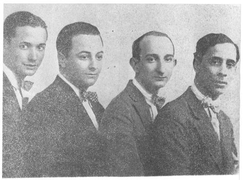 De izquierda a derecha Cátulo Castillo Homero Manzi Sebastián Piana y Pedro Maffia - Poesia Online