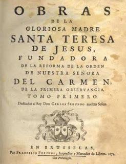 Edición Obras de la Santa Teresa de Jesús1674. - Poesia Online