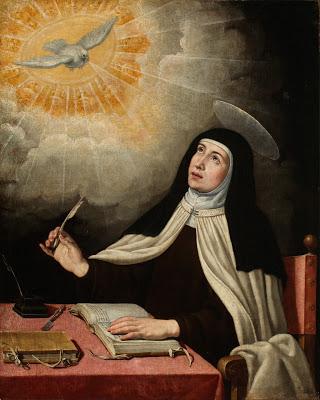 Santa Teresa de Jesús. siglo XVII anónimo copia de José Ribera - Poesia Online