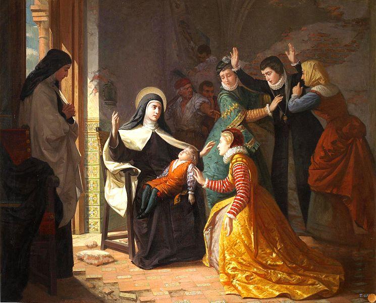 santa teresa 1er milagro - Poesia Online