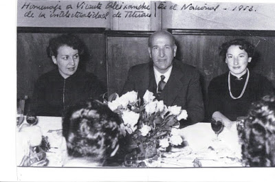 Dora Bacaicoa Vicente Aleixandre y Trina Mercader. Homenaje a Vicente Aleixandre en Tetuán 1953. - Poesia Online