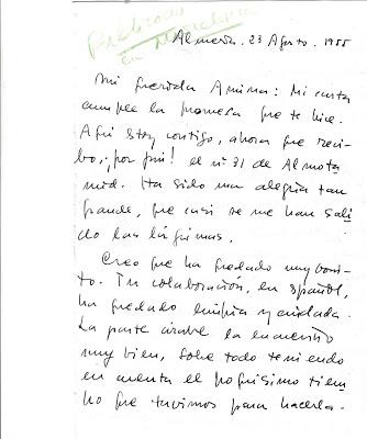 Primeras cartas de Trina Mercader las dirigidas a su amiga y colaboradora Amina Loh en agosto de 1955 por gentileza de Fernando de Ágreda. - Poesia Online