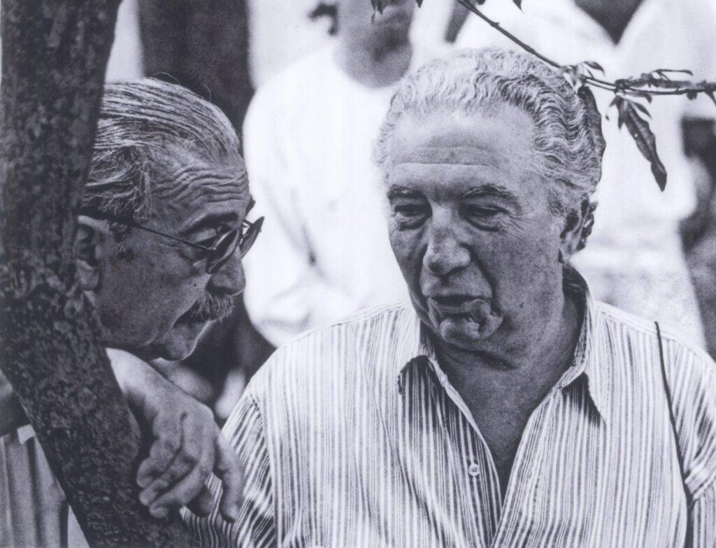 Juan Gelman y Rodolfo Alonso Foto Javier Naranjo - Poesia Online