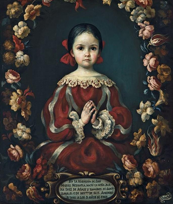 La niña de Nepantla óleo sobre tela colección particular exhibida en Las Bodegas del Molino Puebla - Poesia Online