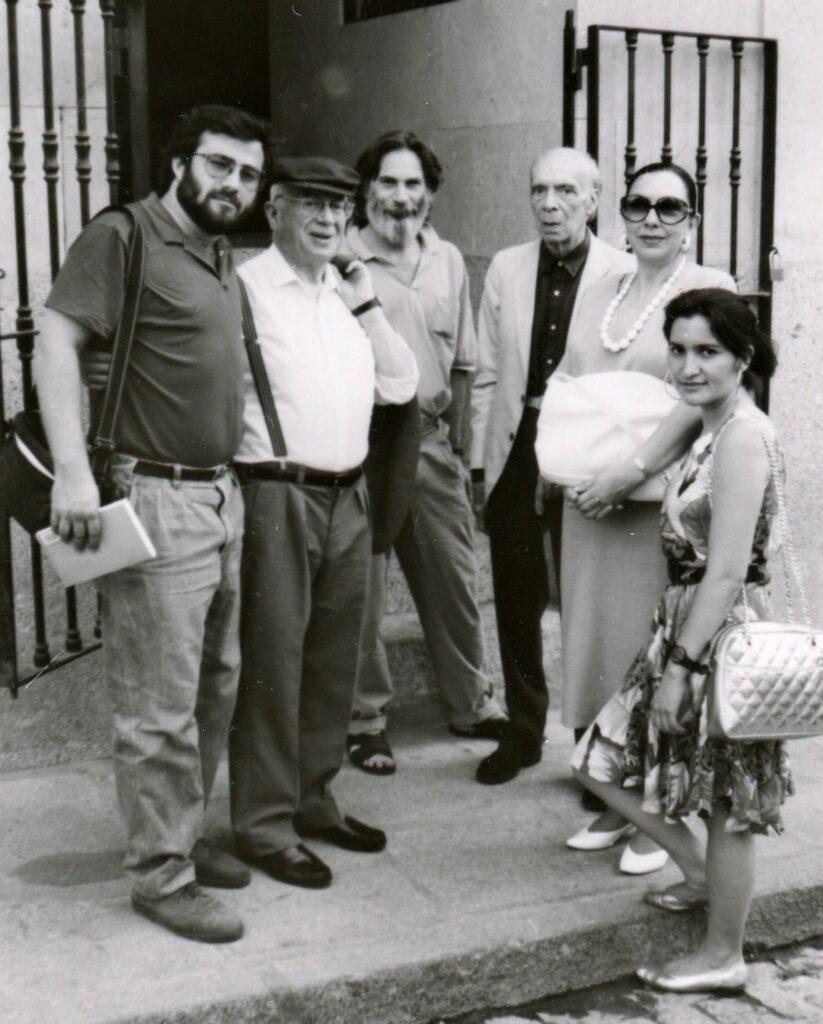 6 A  P  Alencart Gonzalo Rojas Carlos Emilio Adolfo Westphalen Hilda R  May y Jacqueline Alencar en Salamanca 1991 - Poesia Online