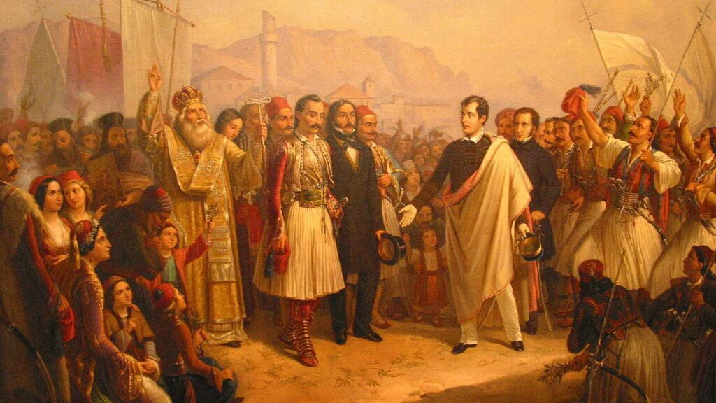Lord Byron siendo recibido por los griegos. - Poesia Online