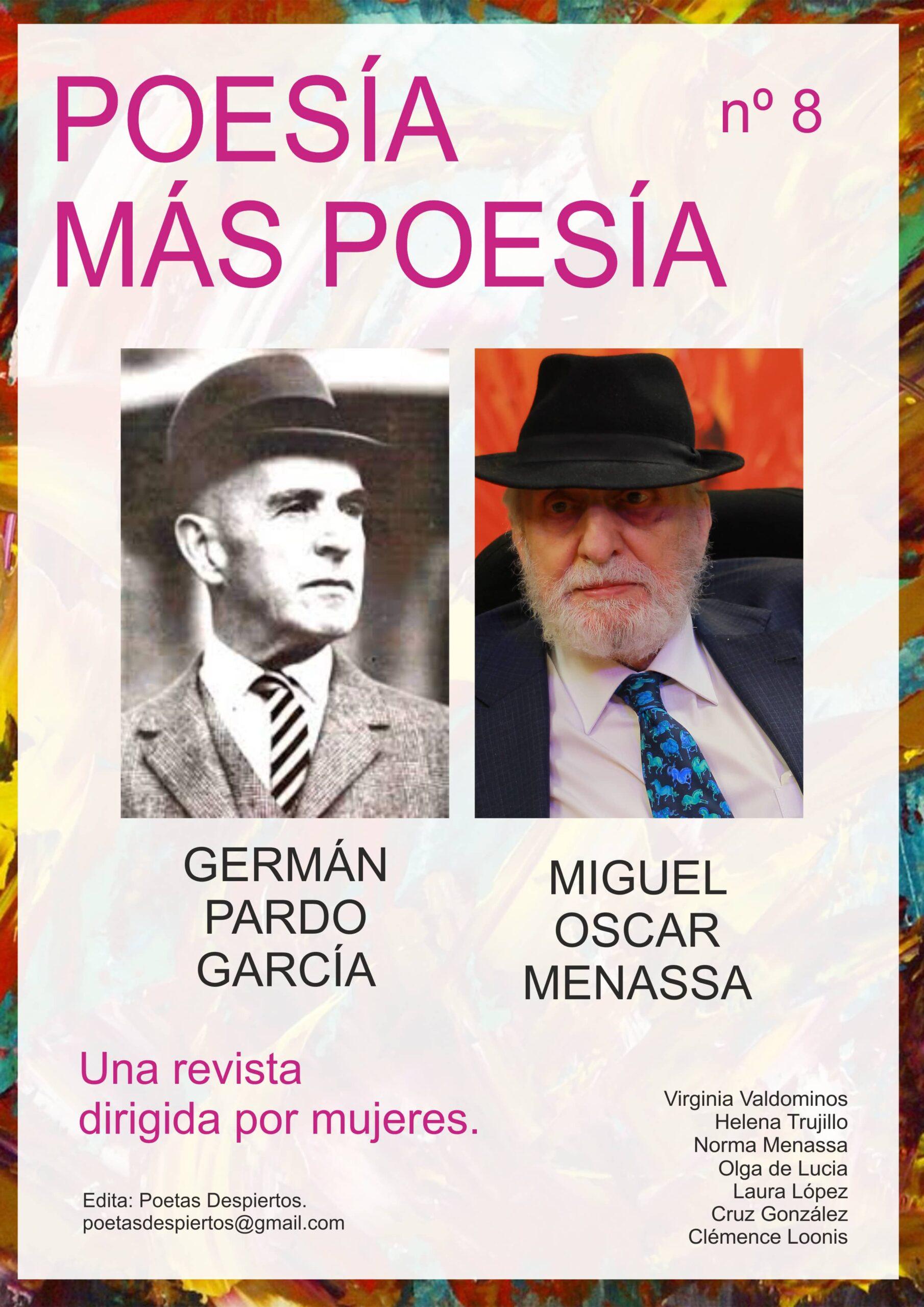 REVISTA poesía más poesía dedicada al poeta colombiano Germán Pardo García y al poeta hispanoargentino Miguel Oscar Menassa