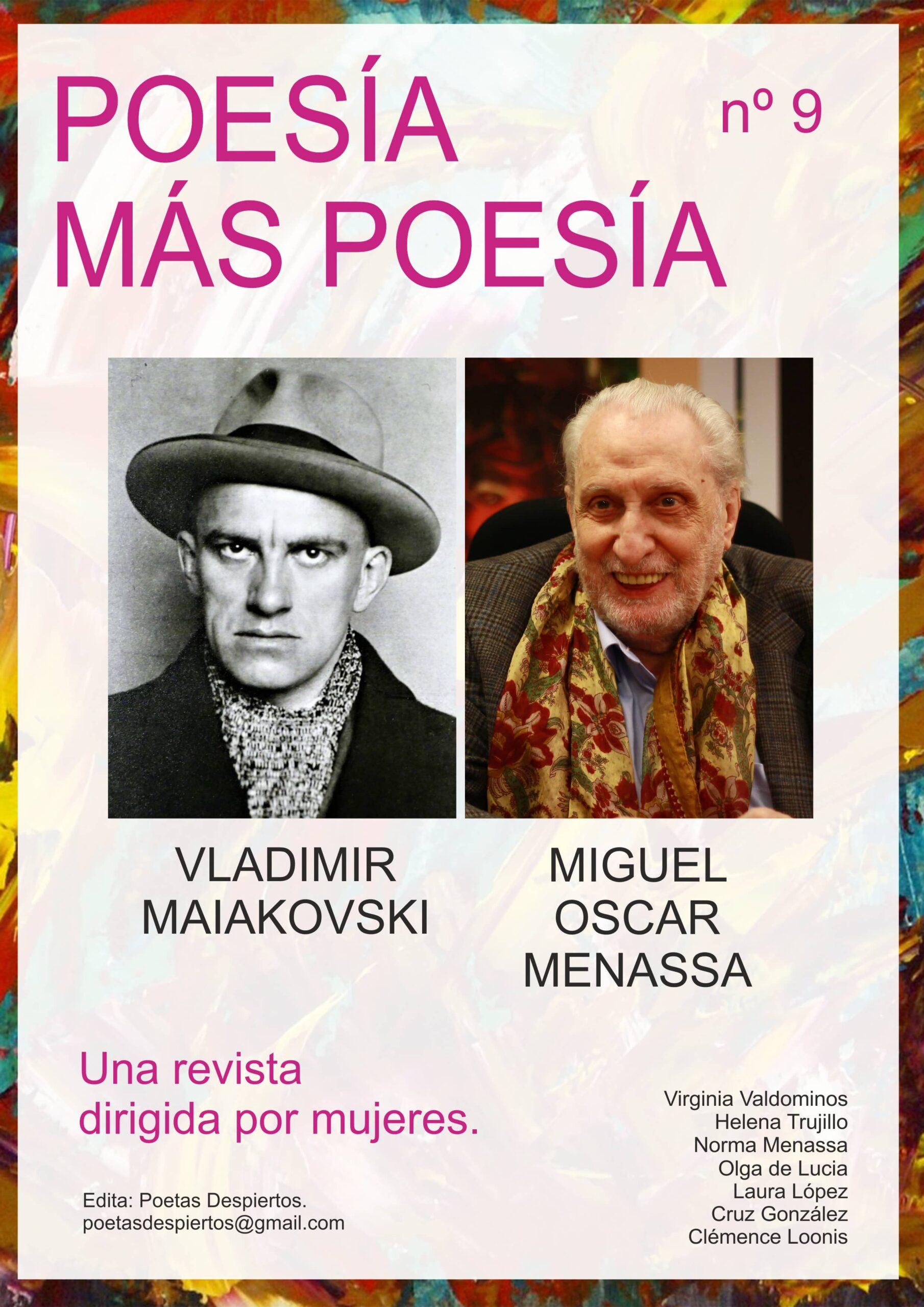 Revista Poesía más Poesía dedicada al poeta ruso Vladimir Maiakovski y a Miguel Oscar Menassa.