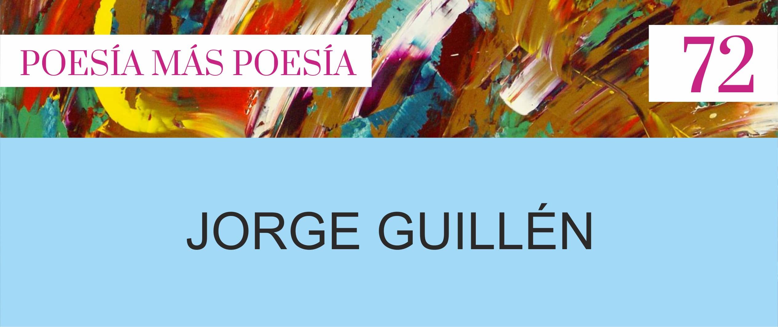 POESÍA ESPAÑOLA JORGE GUILLÉN REVISTA DE POESÍA - Poesia Online