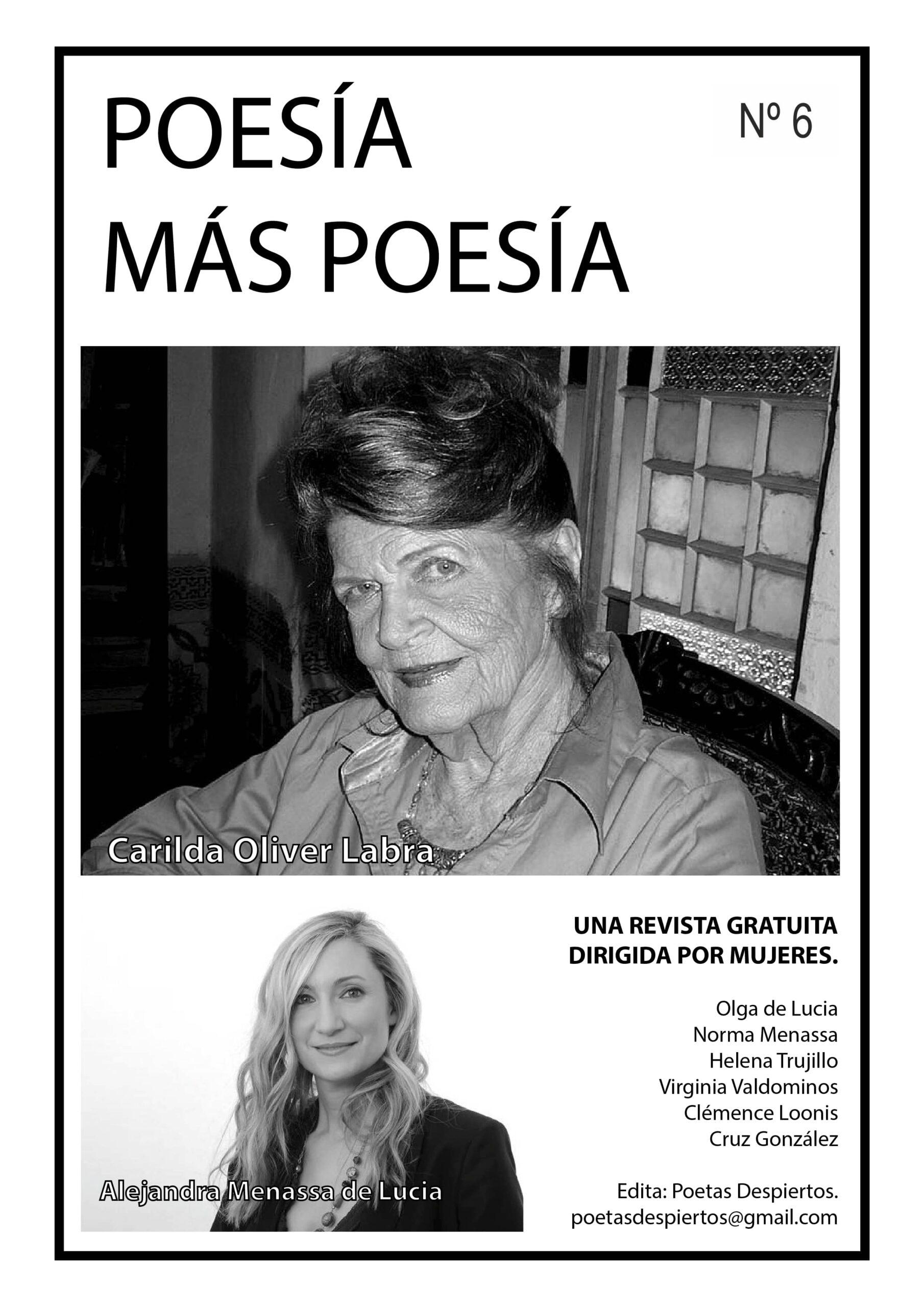 Revista de poesía dedicada a la poeta cubana Carilda Oliver Labra