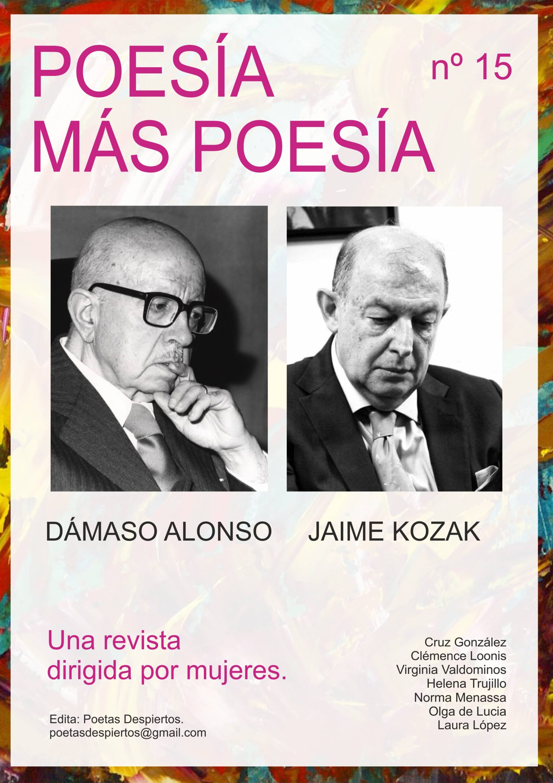 Revista Poesía más Poesía dedicada a Dámaso Alonso y Jaime Kozak