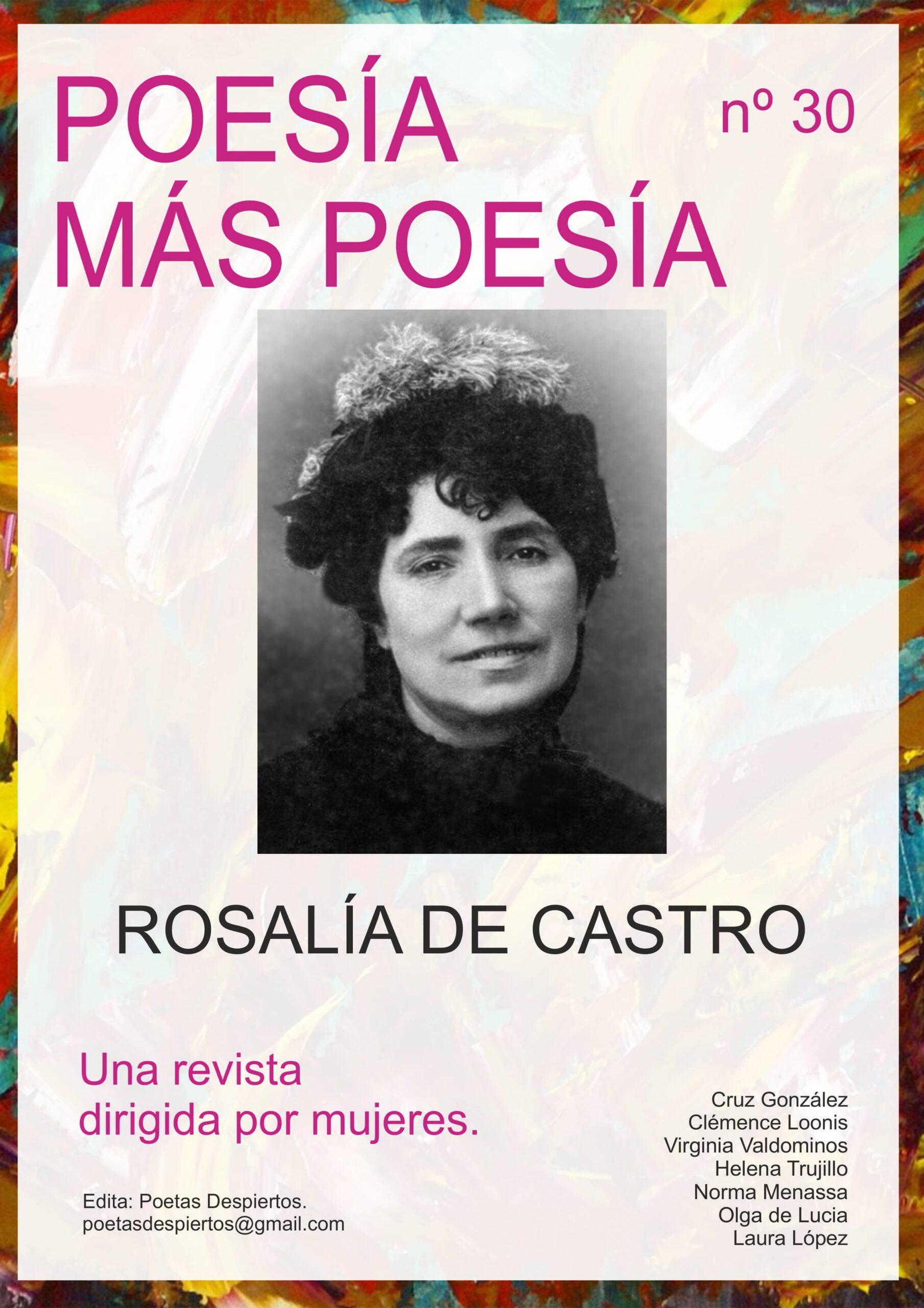 Revista Poesía más Poesía dedicada a la poeta gallega Rosalía de Castro y a la poeta del Grupo Cero Claire Deloupy.